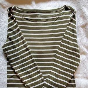 Striped, long sleeve tee